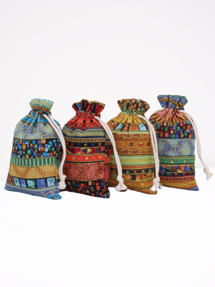 Ethnic Style Cloth Bag Jewelry Packing Bag Cotton Linen Mobile Phone Bag