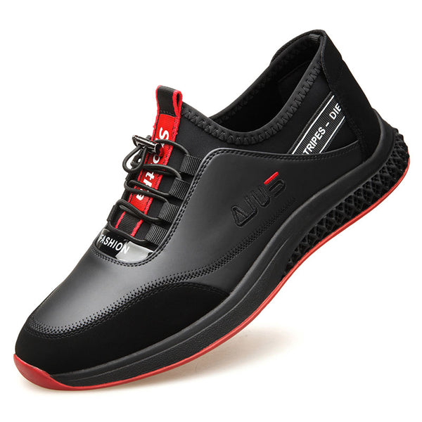 Men Non-slip Leather Date Split Joint Casual Shoes