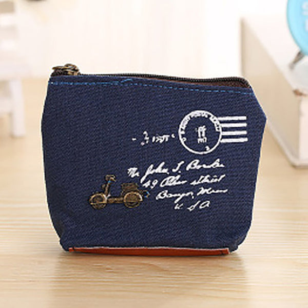 ZAKKA Vintage Cute Zipper Canvas Wallets