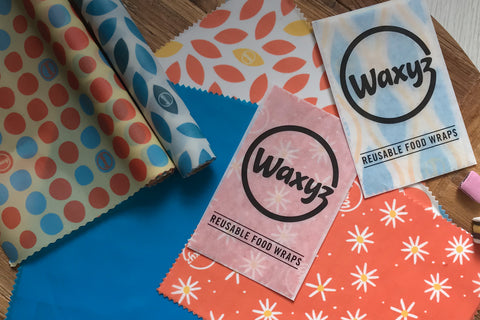 Waxyz food wraps in a variety of colours