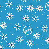 Reusable wax wrap in Blue Daisy by Waxyz