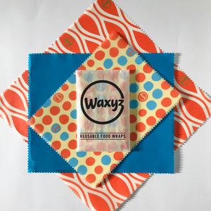 Waxyz triple packs in orange: small, medium and large