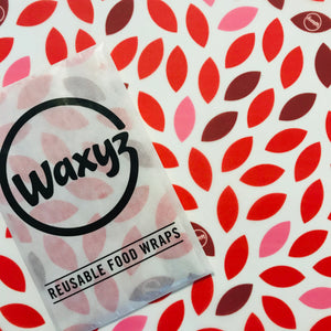 Red leaf reusable wax wrap by Waxyz