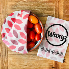 Load image into Gallery viewer, Wax wrap for keeping food fresher for longer by Waxyz. A plasticfree alternative to cling film.