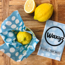Load image into Gallery viewer, Waxyz reusable small food wrap by Bplasticfree