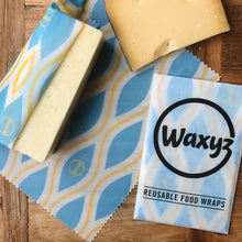 Load image into Gallery viewer, Keep cheese fresher for longer with Waxyz in blue diamond design