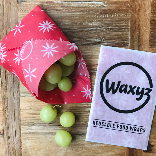 Waxyz wrap in Red Daisy by Bplasticfree