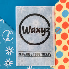 Load image into Gallery viewer, waxyz triple pack reusable eco and vegan friendly wraps