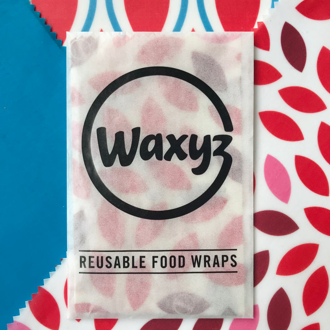 Waxyz Triple Pack Wax Wraps. Assorted colours