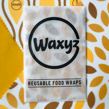 Load image into Gallery viewer, Waxyz food wrap pack of three in yellow.