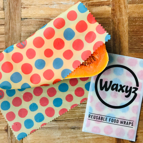 Medium orange waxyz food wrap. An environmentally friendly alternative to cling film.