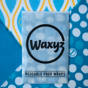 Waxyz Triple Pack Wax Wraps. Blues
