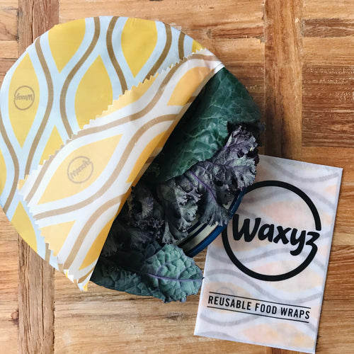 waxyz vegan friendly yellow diamond food wrap