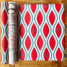 Load image into Gallery viewer, Waxyz new red diamond reusable wax wrap on a roll