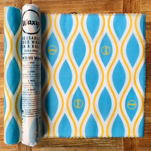 Blue Diamond roll by Waxyz. Reusable food wraps