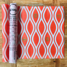 Load image into Gallery viewer, Orange Waxyz reusable food wrap by Bplasticfree. An eco friendly alternative to cling film. Help save the planet