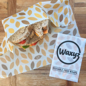 yellow leaf sandwich wrap by Waxyz to keep sandwiches fresher for longer