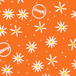 Load image into Gallery viewer, Waxyz by Bplasticfree Wax Wrap in Orange Daisy