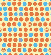 Load image into Gallery viewer, Orange Dotty Waxyz vegan friendly reusable food wrap.