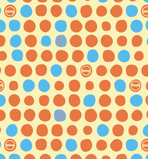 Orange Dotty Waxyz vegan friendly reusable food wrap.
