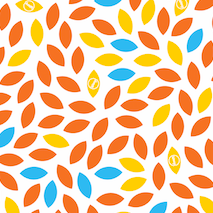 Orange leaf designed reusable food wraps by Waxyz