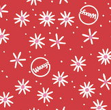 Load image into Gallery viewer, Small Waxyz wrap in red daisy design