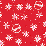 Load image into Gallery viewer, Waxyz red wrap in daisy design
