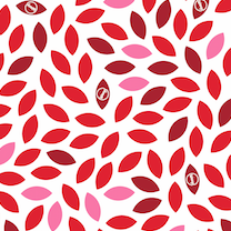 Load image into Gallery viewer, red leaf design of Waxyz wrap by Bplasticfree