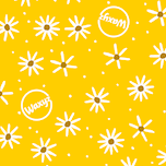 Waxys yellow daisy design