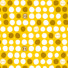 Load image into Gallery viewer, Yellow dotty wax wrap design for reusable food wraps by bplasticfree