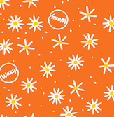 Orange daisy design by Waxyz food wraps