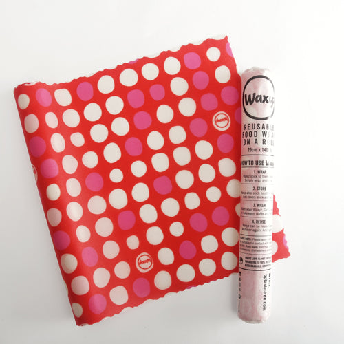 Go Dotty - Red - Waxyz on a Roll - Bplasticfree
