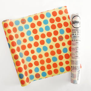 Go Dotty - Orange  Waxyz on a Roll - Bplasticfree