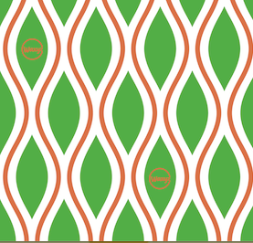 Diamonds - Green and Orange - Extra Large