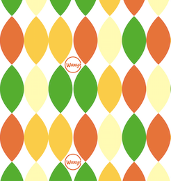 Harlequin - Green and Orange - Small