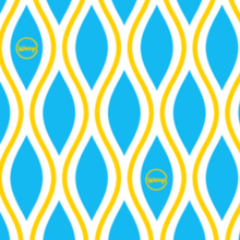 Load image into Gallery viewer, waxzy diamonds blue and yellow bplasticfree wrap
