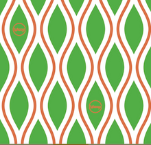 Load image into Gallery viewer, Diamonds - Green and Orange - Medium - Bplasticfree