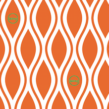 Load image into Gallery viewer, Diamonds - Orange - Waxyz on a Roll - Bplasticfree