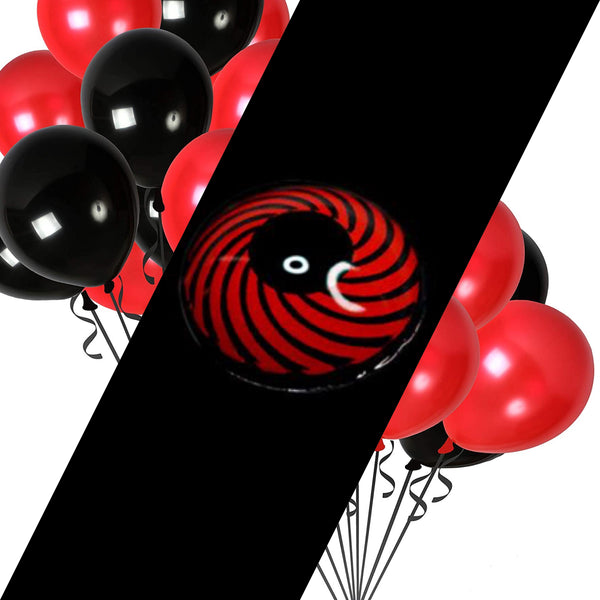 Red and Black Spiral