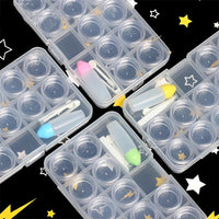 Transparent 12 Grids Colored Lens Case