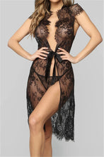 Load image into Gallery viewer, See Through Lace Bandage Robe