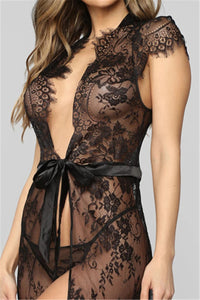 See Through Lace Bandage Robe