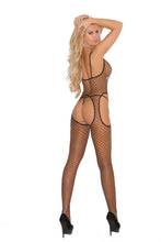 Load image into Gallery viewer, Diamond Net Suspender Bodystocking