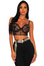 Load image into Gallery viewer, Sheer Lace Bustier Bralette