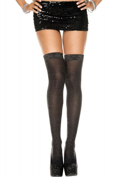 Lurex Thigh High Stockings by Music Legs