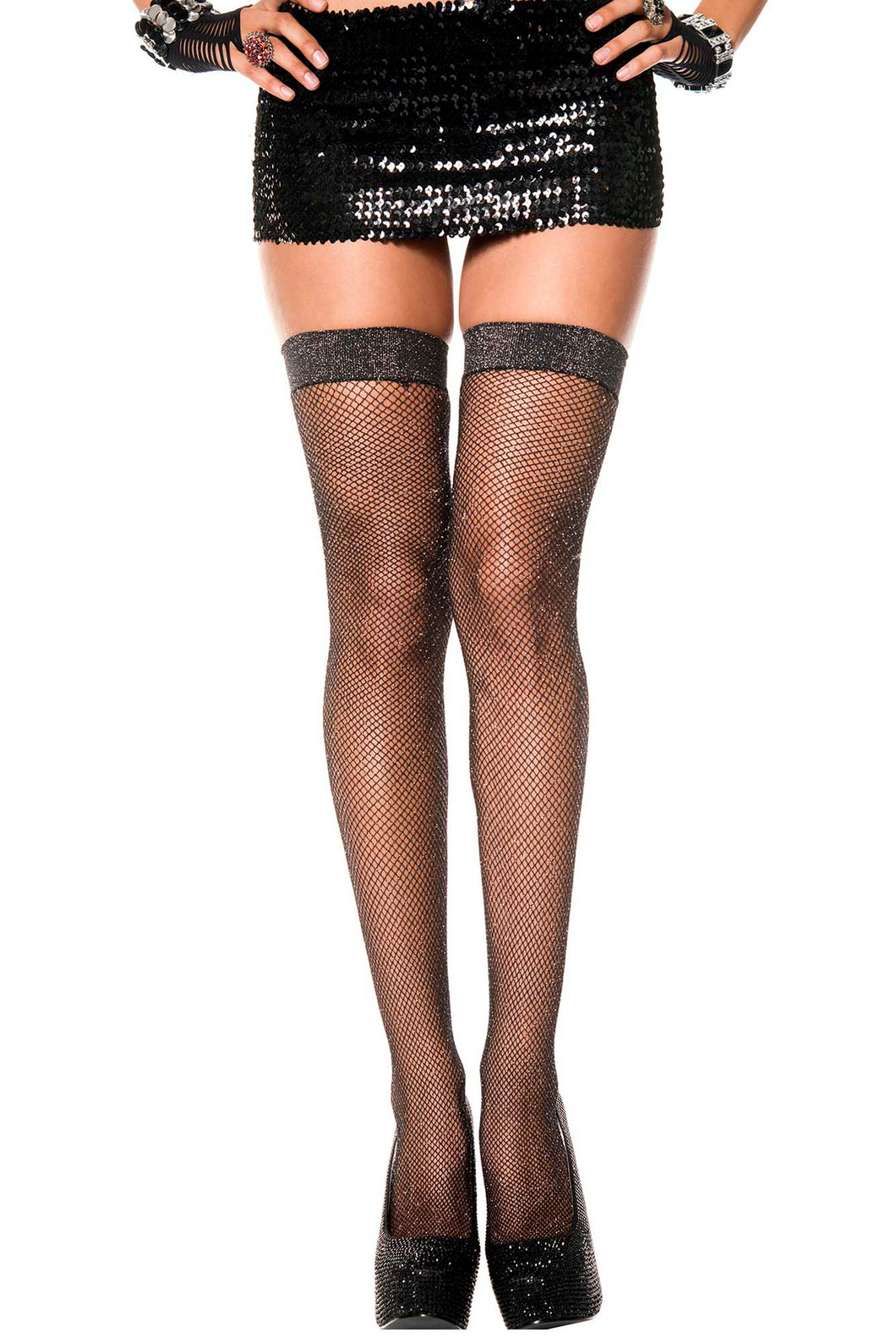 Shimmery Thigh Highs by Music Legs