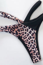 Load image into Gallery viewer, Printed Splicing Tie Bikini Set