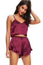 Load image into Gallery viewer, Satin Camisole Shorts Pajama Set