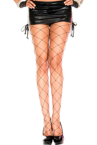 Big Diamond Net Pantyhose by Music Legs