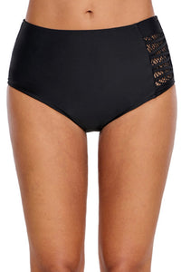 Strappy Lace Panel Swimsuit Bottom